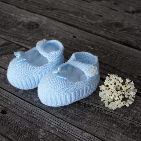 Patuco sandalia de punto celeste