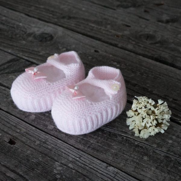 Patuco sandalia de punto rosa