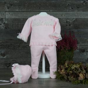 Conjunto de tres piezas rosa