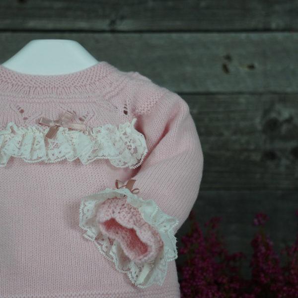 Conjunto de tres piezas rosa empolvado