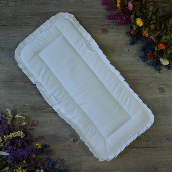 Saco-colcha lencero blanco