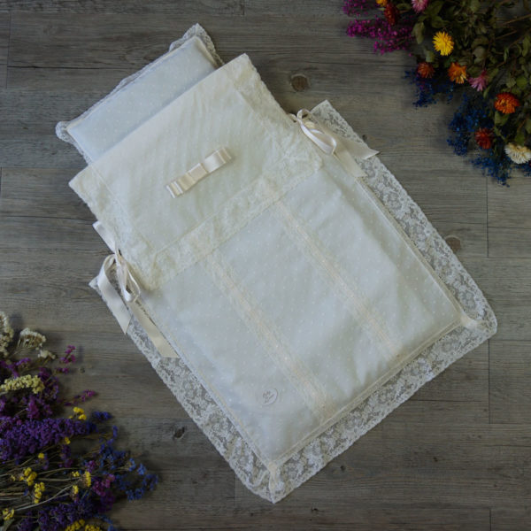 Saco-colcha lencero marfil