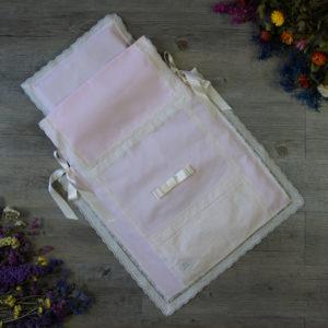 Saco-colcha lencero rosa y marfil