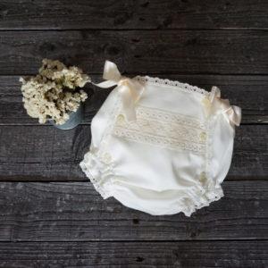 Cubrepañal batista beige