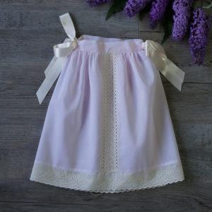 Faldón de cintura rosa y beige