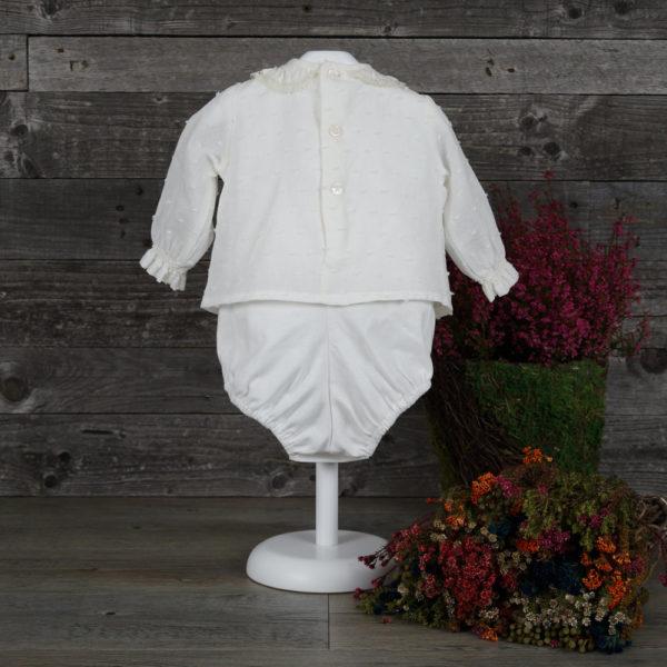 Body blusa marfil