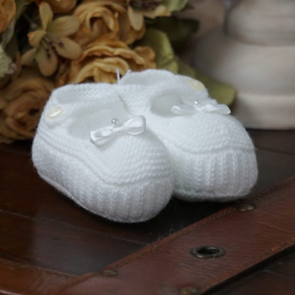 Patuco sandalia de punto color blanco