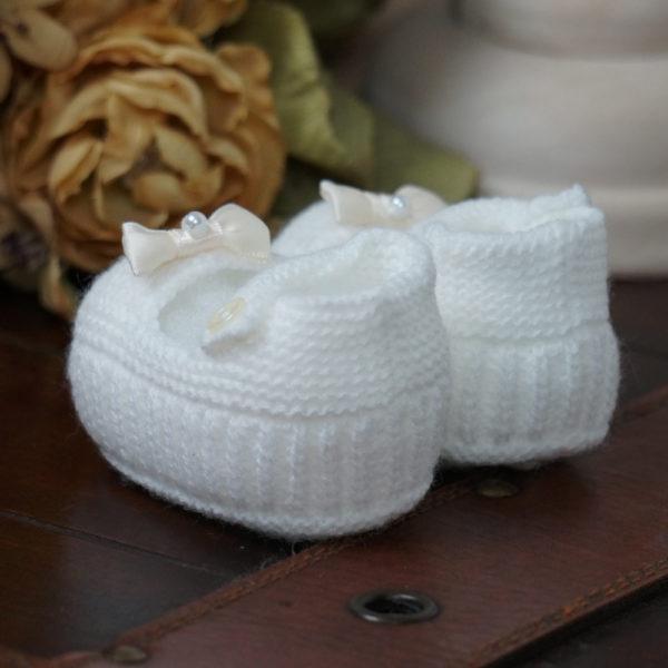 Patuco sandalia de punto marfil