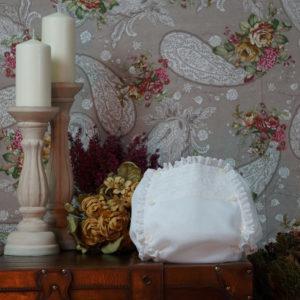 Cubrepañal seda natural blanco