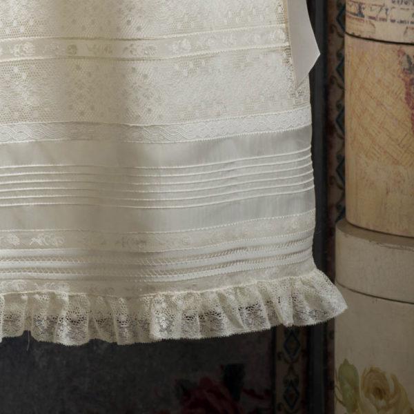 Faldón y capota de bautizo sin manga