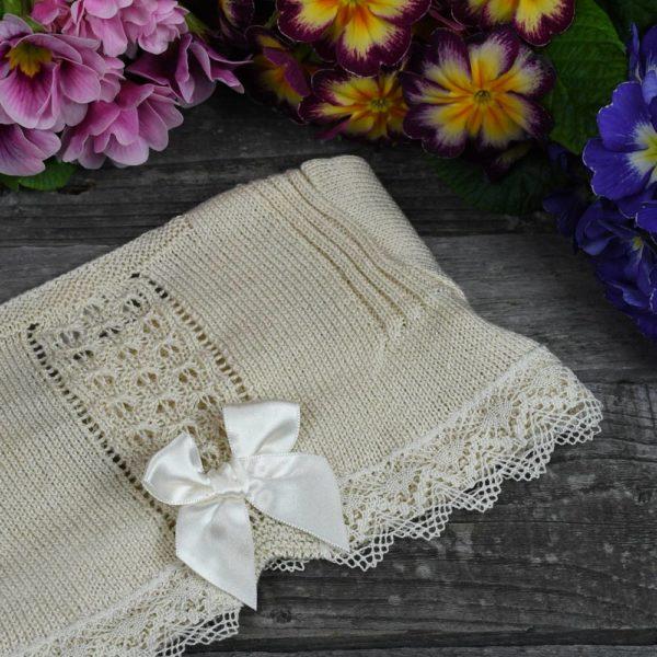 Chaqueta rebeca en perlé de algodón