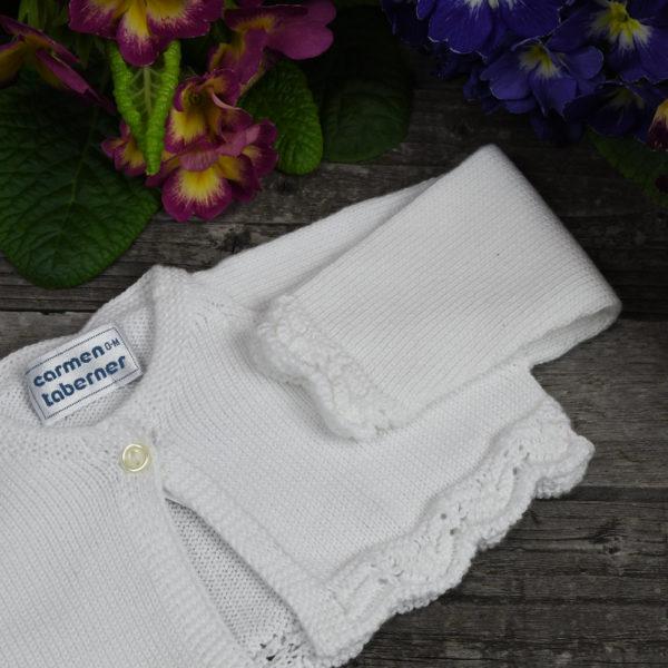 Chaqueta corta en perlé de algodón
