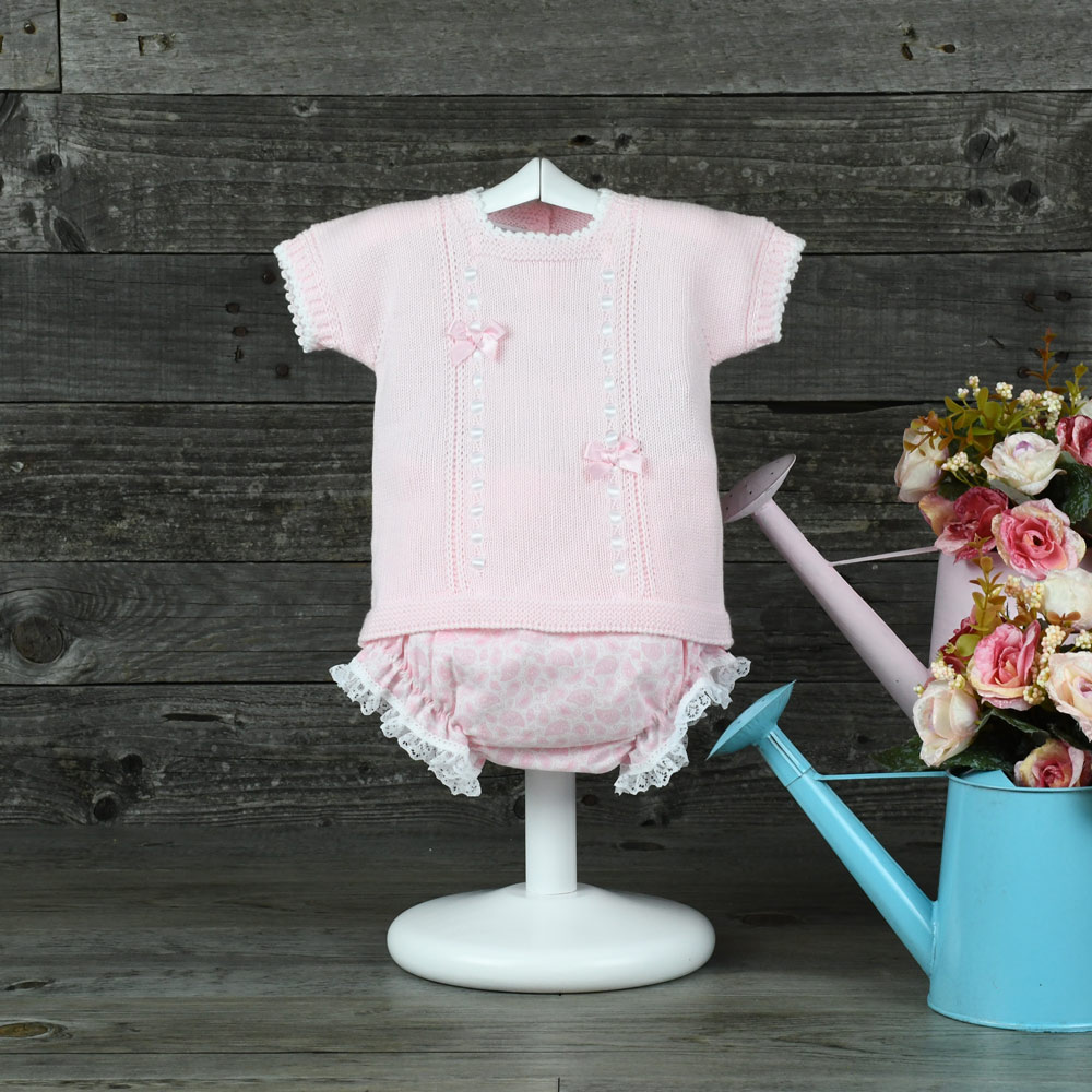 474b8d3bd Knitted sweater and printed bloomers set - Nayfer