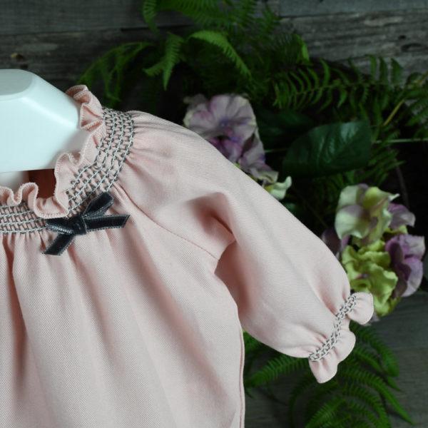 Conjunto blusa y cubrepañal en viyela