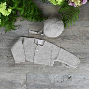 Bolero cardigan and bonnet set