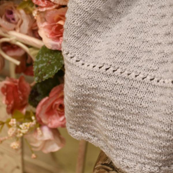 Toquilla manta de punto en algodón orgánico