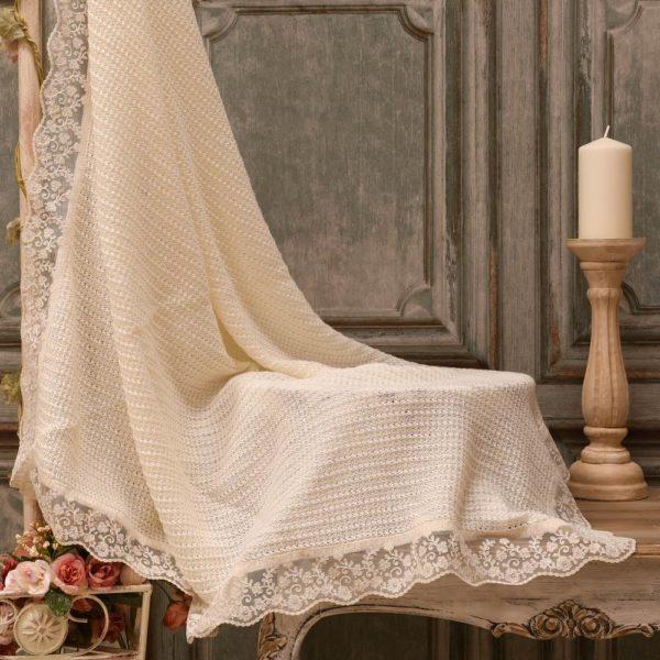 Toquilla 100% algodón con encaje