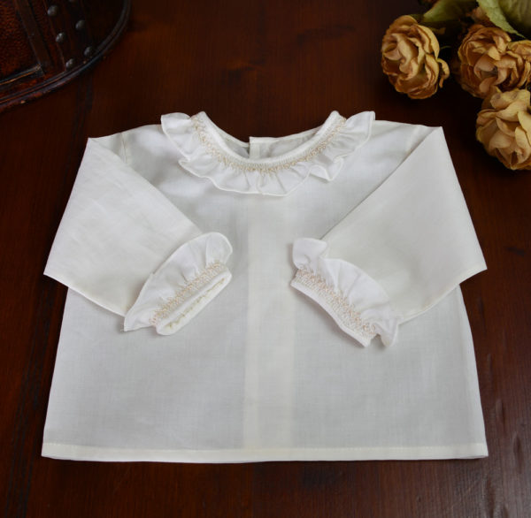 Camisa batista marfil